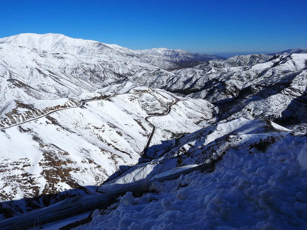 Snow in the Atlas Mountains